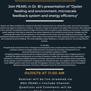 PEARL Seminar Series Presentation with Dr. Hongsheng Bi