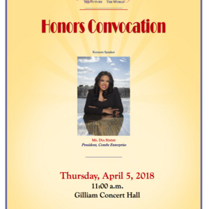 Honors Convocation with Keynote Dia Simms