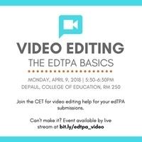 EdTPA Video Editing Workshop