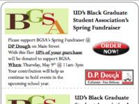 BGSA Spring Fundraiser – D.P. Dough