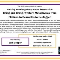 The Philosophy Circle Presents: Creating Knowledge Essay Award Presentation