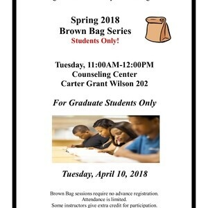 Brown Bag Series - For Graduate Students Only