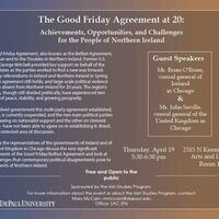The Good Friday Agreement at 20: Achievements, Opportunities, and Challenges for the People of Northern Ireland