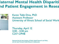 Maternal Mental Health Disparities and Patient Engagement in Research