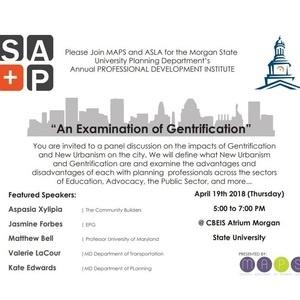 "MSU SAP Professional Development Institute: ""An Examination of Gentrification"""