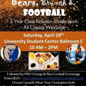 Bears, Brunch, & Football - Class of 2013 Reunion Celebration