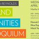 Bill & Maura Reynolds Arts & Humanities Colloquium
