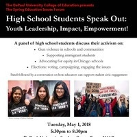 COE Spring Forum: High School Students Speak Out!