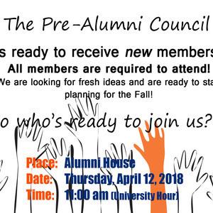 Pre Alumni Council Meeting