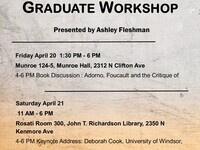 Graduate Student Workshop: Critical Theories Workshop- Foucault & Adorno