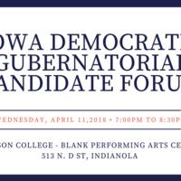 Iowa Democratic Gubernatorial Candidate Forum