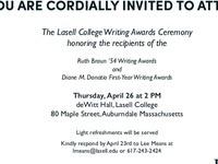 Braun and Donatio Writing Awards Ceremony