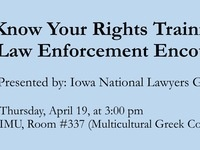 Know Your Rights Training for Law Enforcement Encounters