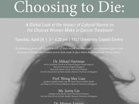 Choosing to Die: A Global Look at the Impact of Cultural Norms on the Choices Women Make in Cancer Treatment