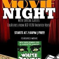 Movie Night: White Zombie with Red Vein Haunted House!