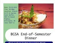BGSA End-of-Semester Dinner