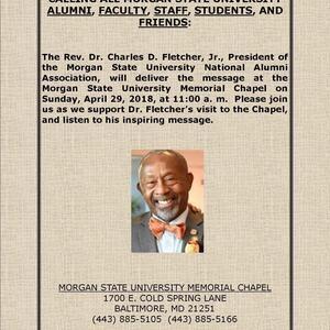Rev. Dr. Charles Fletcher Speaks at Chapel