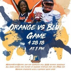 Orange and Blue Football Game