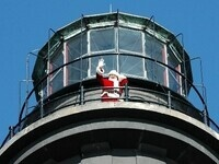Annual Reenactment of the Flying Santa