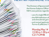 New NIH Clinical Trials Policies
