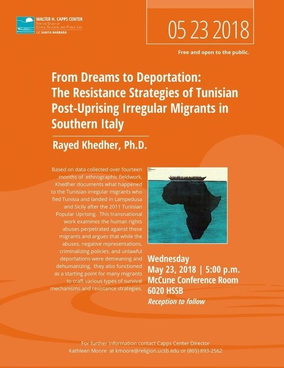From Dreams to Deportation: The Resistance Strategies of Tunisian Post-Uprising Irregular Migrants in Southern Italy, Rayed Khedher, Ph.D.