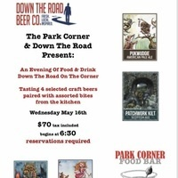 An Evening of Food & Drink: Down the Road On the Corner