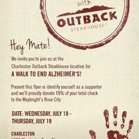 Outback Walk to Alzheimer's Give Back