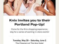 Knix Portland Pop-Up