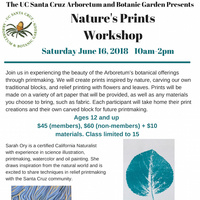 UCSC Arboretum Nature Craft Workshop: Nature's Prints Workshop