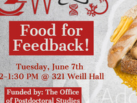 Food for Feedback Science on Tap Practice Talks!