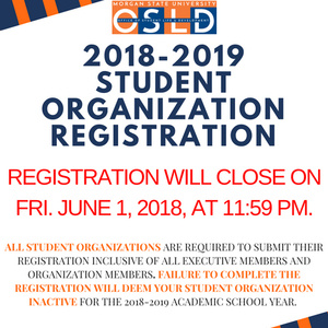 Registration Deadline for Student Organizations