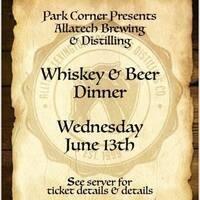 Whiskey & Beer Dinner