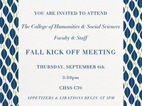 College of Humanities & Social Sciences Fall Meeting