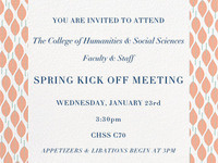 College of Humanities & Social Sciences Spring Meeting