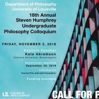 18th Annual Steven Humphrey Undergraduate Philosophy Colloquium