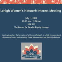 Women's Network Interest Meeting | Center for Gender Equity