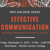 ODEI Dialogue Series: Effective Communication Between Administrators and Students