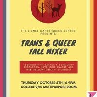 Trans & Queer Fall Mixer