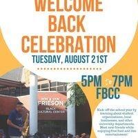 Welcome Back Celebration