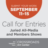 Call for Entries: September All Media-Show at Crossroads Art Center