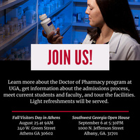 College of Pharmacy Open House (Augusta Campus)