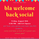 BLA Welcome Social