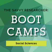 Savvy Researcher: Social Sciences Bootcamp