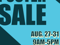 Poster Sale from 8/27-8/31