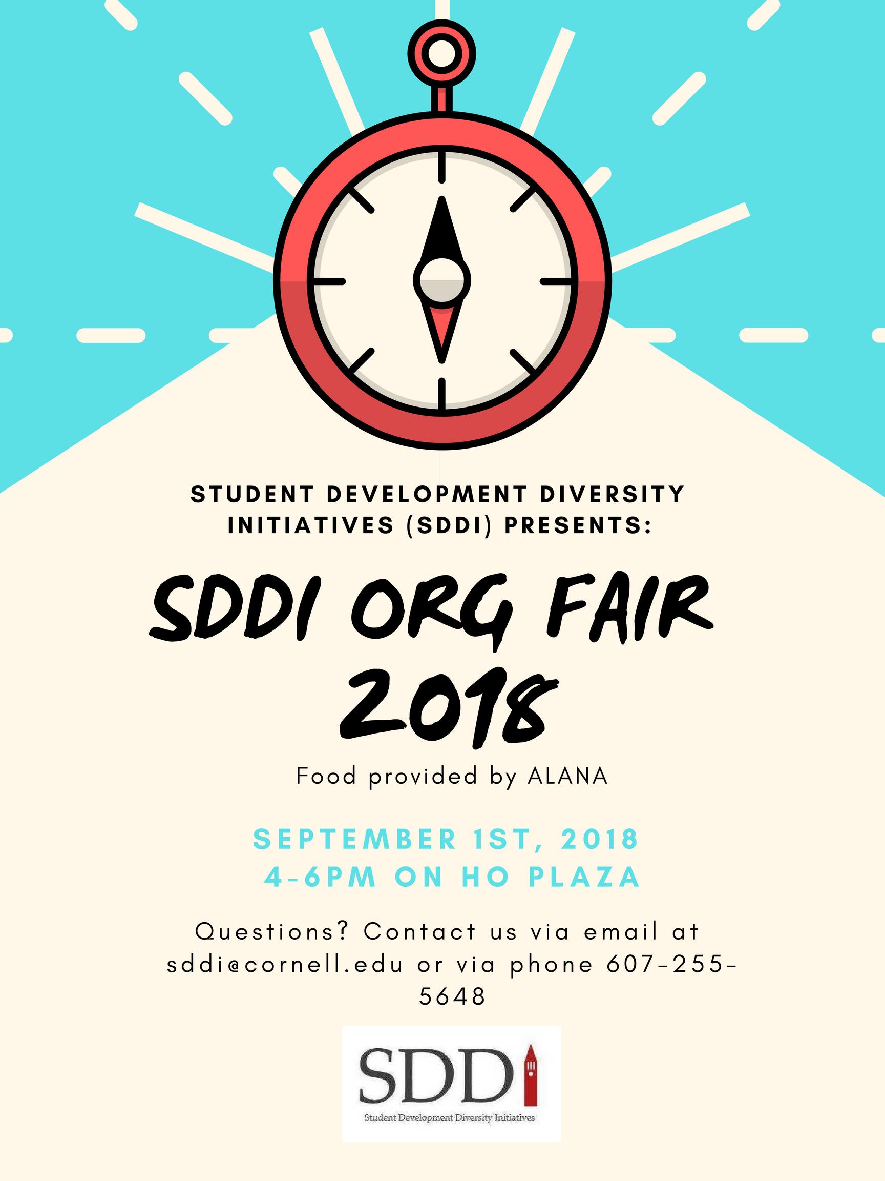 SDDI Student Organization Fair