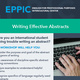 Writing Effective Abstracts