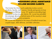 CEL Speaker Series: Alumnus Michael Lucas '97 on Low-Income Legal Assistance