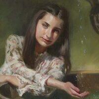 Portrait Oil Painting Demonstration by Artist JoAnn Peralta