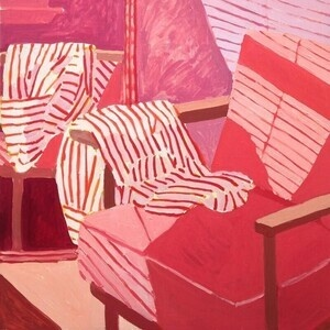 """Sophie Treppendahl, """"Skinnydip Daydreams And A Striped Shirt"""""""