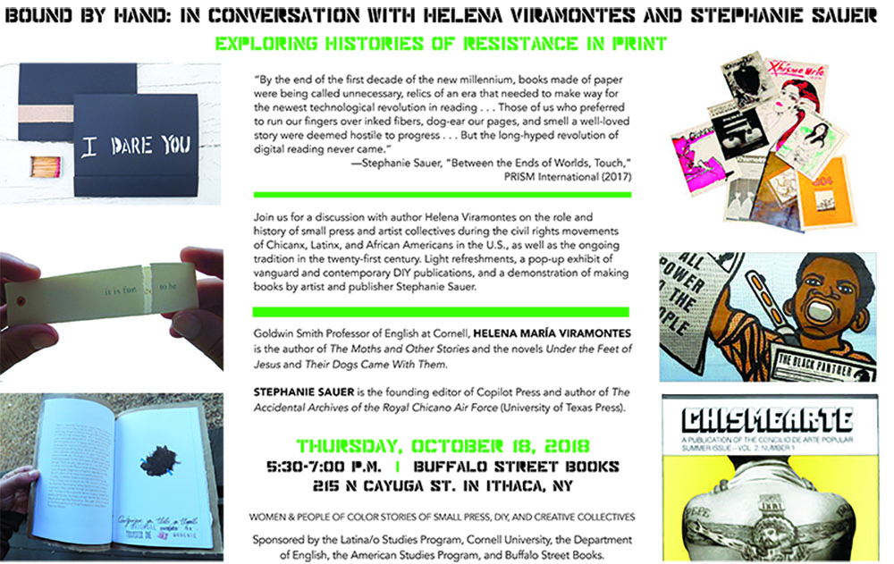 Bound by Hand: In Conversation with Helena Viramontes and Stephanie Sauer! Exploring Histories of Resistance in Print